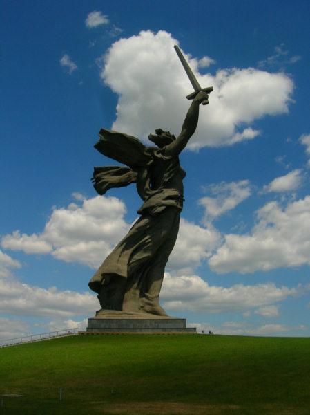 Волгоград, Мамаев курган, Родина-мать.