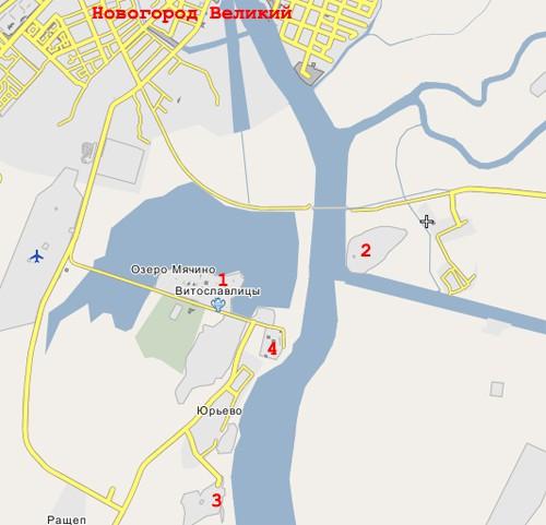 Великого Новгорода на реке