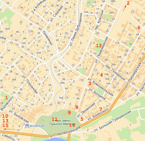 Карта города Могилёвк