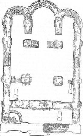 Туров, план каменного храма