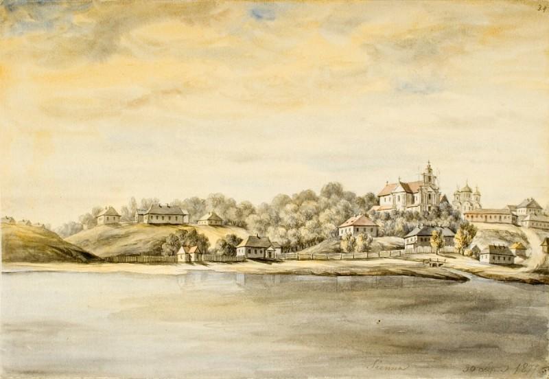 Сенно, рисунок Наполеона Орды.